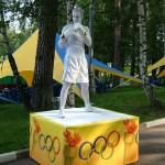 Живая статуя -Боксер
