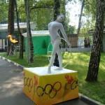 Живая статуя -Гимнастка