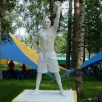 Живая статуя -Силач!