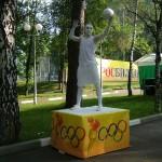 Живая статуя -Футболист!