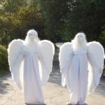 живые статуи -ангелы