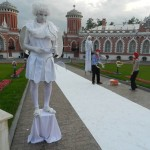 живая статуя Купидон